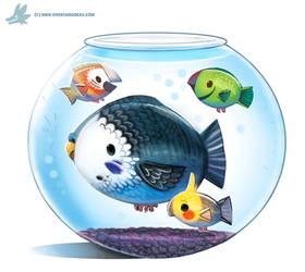 Daily Paint #1039. Parrot Fish