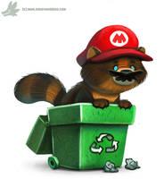 Daily Paint #1041. Tanooki Mario