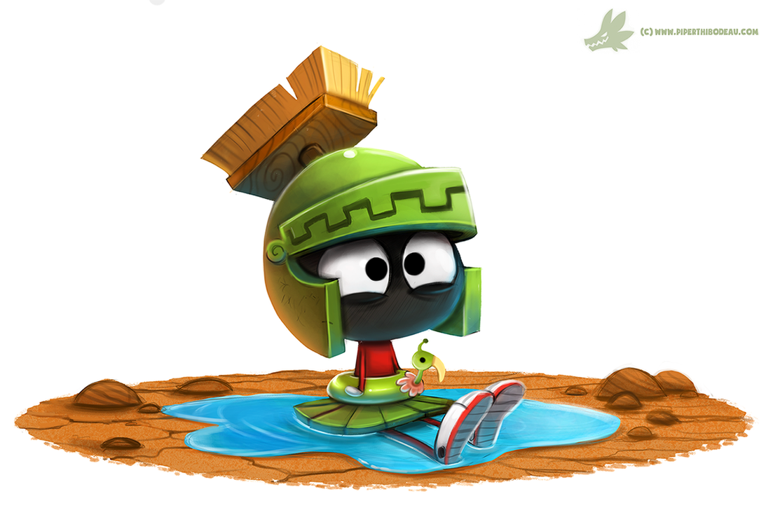 Daily Paint #1043. Water on Mars! by Cryptid-Creations