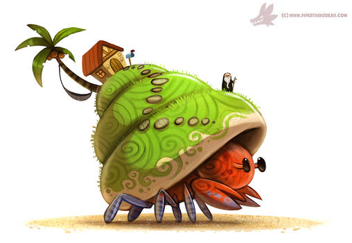 Daily Paint #1044. Hermit Island
