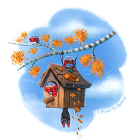 Daily Paint #1046. Autumn is here! by Cryptid-Creations