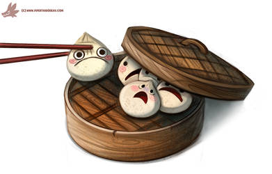Daily Paint #1050. Sacrificial Dumpling