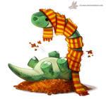 Daily Paint #1053. Autumn Dinos - Apatosaurus
