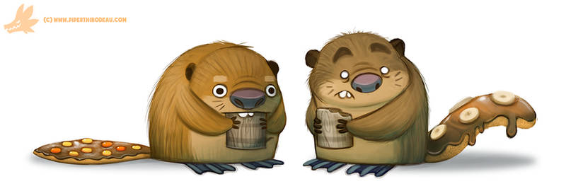 Daily Paint #1058. Beaver Tails