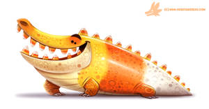 Daily Paint #1062. Crococorn