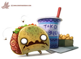 Daily Paint #1063. Zombie Taco by Cryptid-Creations