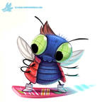 Daily Paint #1065. Marty McFly