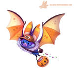 Daily Paint #1072. Halloween Delivery Service