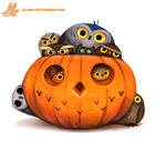 Daily Paint #1075. Happy 'Owlween