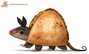 Daily Paint #1076. Quesadillo