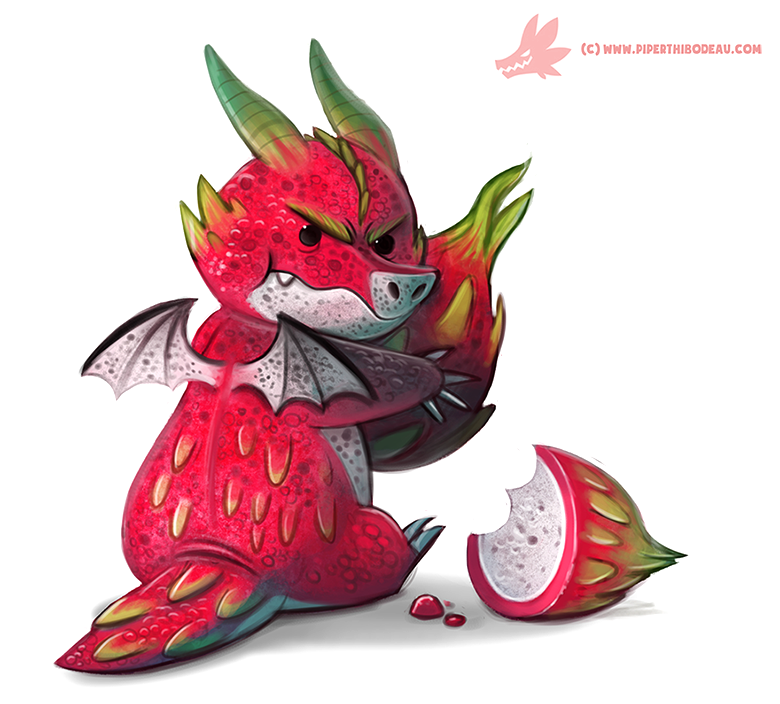 Daily Paint 1081 Dragon Fruit Keeper By Cryptid