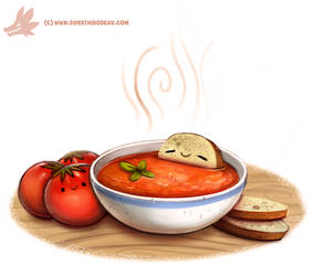 Daily Paint #1083. Tomato Soup