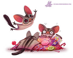 Daily Paint #1086. Sugar Gliders by Cryptid-Creations