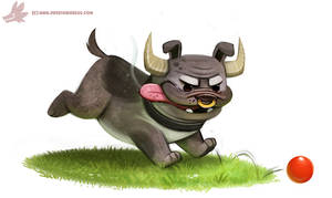 Daily Paint #1088. BullDog by Cryptid-Creations