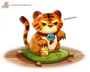 Daily Paint #1089. Lucky Tiger by Cryptid-Creations