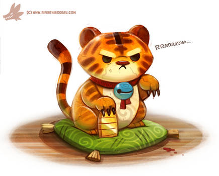 Daily Paint #1089. Lucky Tiger