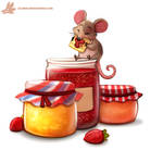 Daily Paint #1090. Jam n' Crackers