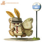 Daily Paint #1091. THE MOTHMAN!!