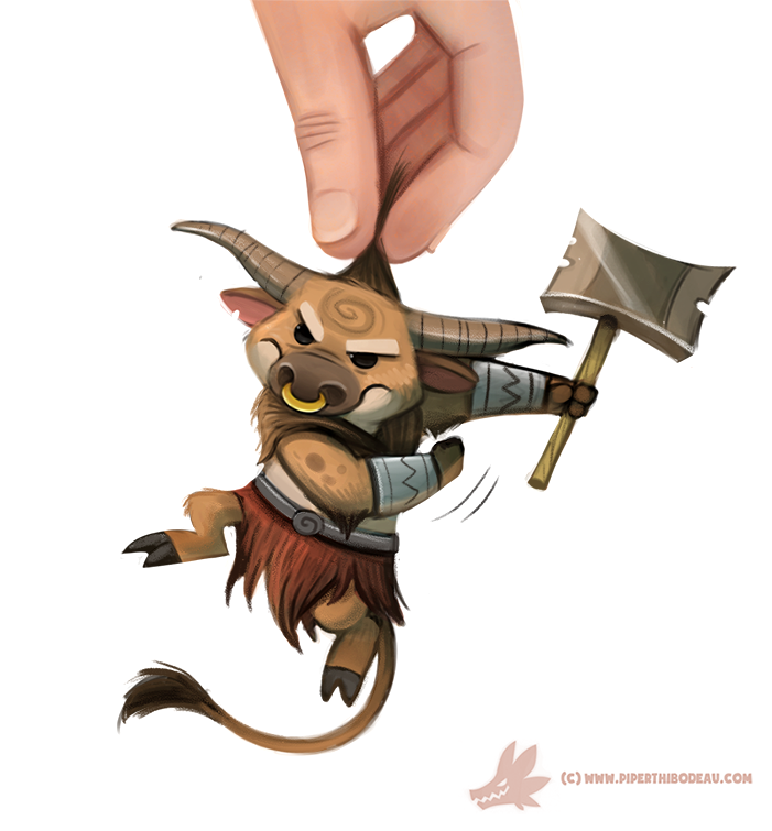 Daily Paint #1094. Mini-taur by Cryptid-Creations
