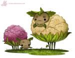 Daily Paint #1096. Cauliflower Sheep