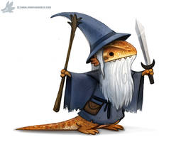 Daily Paint #1097. Bearded Dragon by Cryptid-Creations