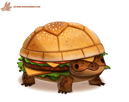 Daily Paint #1098. Turtle Burger