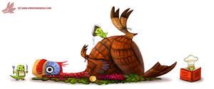 Daily Paint #1100. Turkey-Raptor