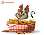 Daily Paint #1105. Chipacabra