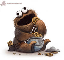 Daily Paint #1106. Cookie Wookie Monster