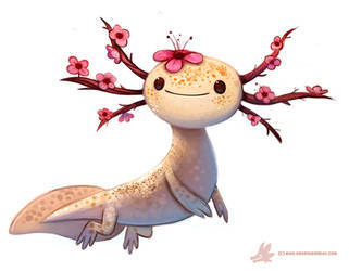 Daily Paint #1107. Blossom-lotl by Cryptid-Creations