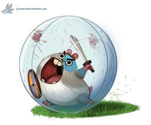 Daily Paint #1108. Battle Hamster