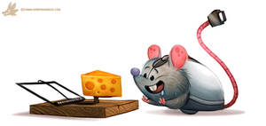 Daily Paint #1113. Computer Mouse