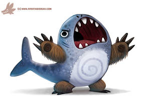 Daily Paint #1114. BEAR SHARK by Cryptid-Creations