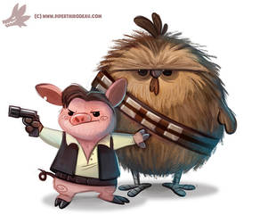 Daily Paint #1120. Ham Solo