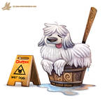 Daily Paint #1122. Mop Dog