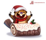Daily Paint #1123. Yule Log