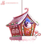Daily Paint #1124. Ginger Bird House