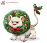 Daily Paint #1125. Wreath Lion