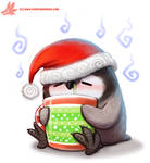Daily Paint #1126. Holiday Fluuuuuuuuuu