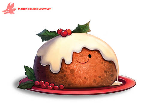 Daily Paint #1127. Christmas Pudding