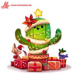Daily Paint #1128. Christmas Cactus