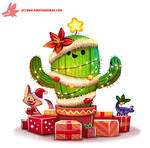 Daily Paint #1128. Christmas Cactus