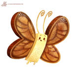 Daily Paint #1137. Butter-Fly