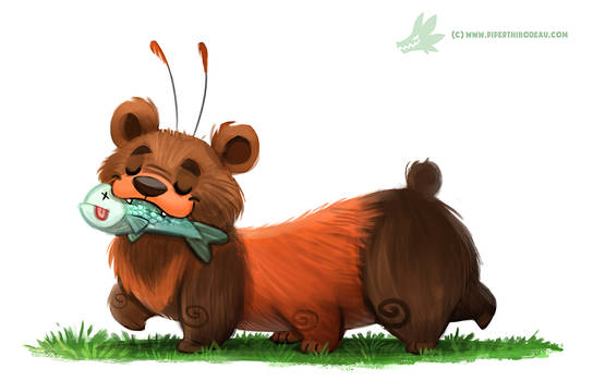Daily Paint #1140. Wolly Bear