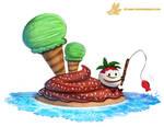 Daily Paint #1144. Dessert Island