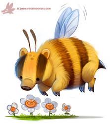 Daily Paint #1148. Honey Badger