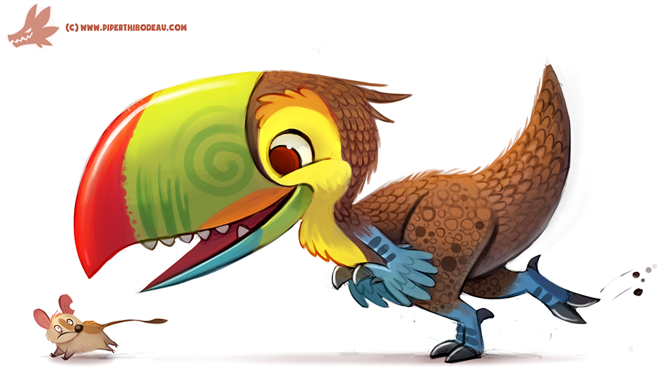 Daily Paint #1151. Toucaraptor by Cryptid-Creations
