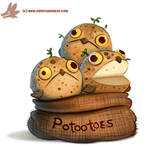 Daily Paint #1152. Potootoes