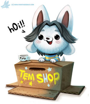 Daily Paint #1153. Temmie (Undertale)