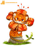 Daily Paint #1156. Tiger Lily